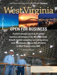 OPEN FOR BUSINESS - West Virginia Department of Commerce