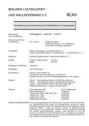 Anmeldung und Ausschreibung für Wettbewerbe im Castingsport
