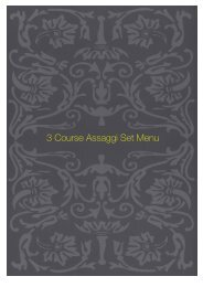3 Course Assaggi Set Menu - Sette Bello