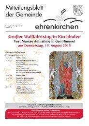 Großer Wallfahrtstag in Kirchhofen - Gemeinde Ehrenkirchen