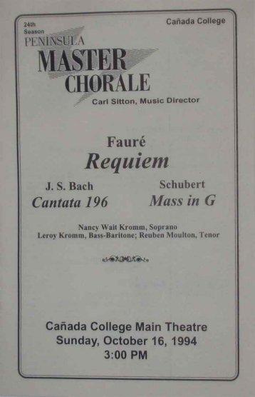 Requiem - Peninsula Cantare
