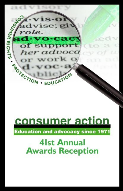 to download a PDF of the 2012 event program - Consumer Action