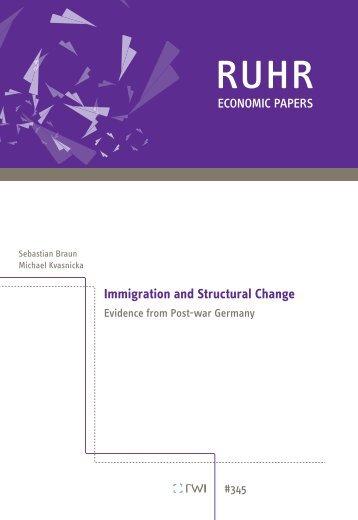 Immigration and Structural Change - Rheinisch-Westfälisches ...