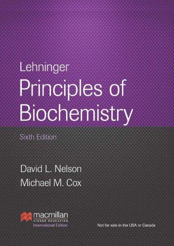 Brochure for Lehninger Principles of Biochemistry, Sixth - Palgrave