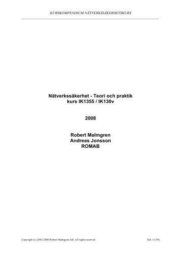 Lectures for 2008 - KTH