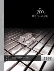 2009 Annual Report - First Majestic Silver Corp.