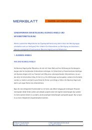 Merkblatt Business Angels - Mittelstand in Bayern