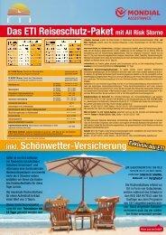 inkl. Schönwetter-Versicherung Das ETI ... - TUI ReiseCenter