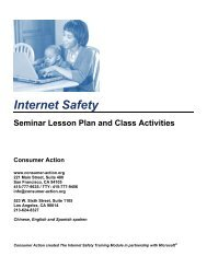 Internet Safety - Seminar Lesson Plan and Class ... - Consumer Action