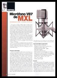 MXL V87 Condenser Microphone / Musico Pro magazine - June 2009