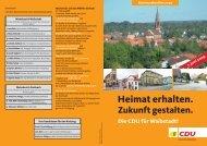 Kommunalwahlen 2009 7. Juni 2009 - CDU Stadtverband Waibstadt