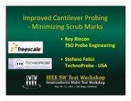 Improved Cantilever Probing - Minimizing Scrub Marks