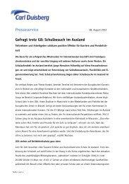 Gefragt trotz G8: Schulbesuch im Ausland - Carl Duisberg Centren