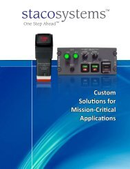 Custom Solutions for Mission-Critical Applications - Staco Systems