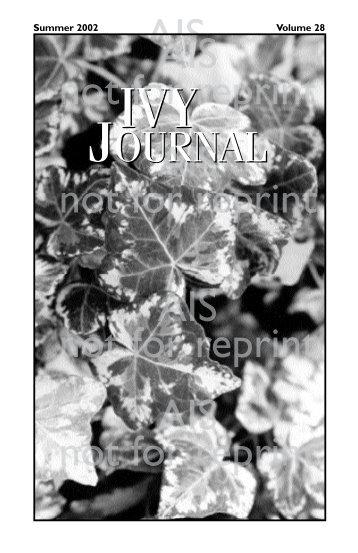 Volume 28 - American Ivy Society