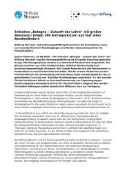 Antragsfrist geendet - Stiftung Mercator