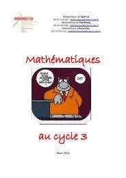 Mathématiques au cycle 3 - CRDP Basse-Normandie