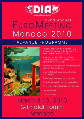 Monaco 2010 - Drug Information Association
