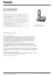Panasonic KX-TG6591 - KRETSCHMER Informationselektronik GmbH