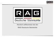 Präsentation im PDF-Format - RAG Deutsche Steinkohle AG