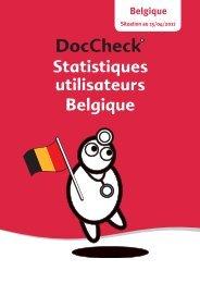Statistiques utilisateurs Belgique - Doccheck