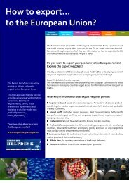 How to export - European Commission - Trade Websites - Europa
