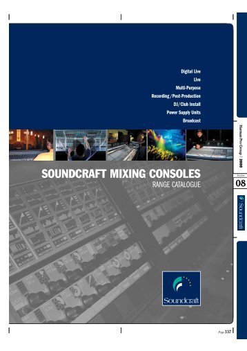 SOUNDCRAFT MIXING CONSOLES - C & G Showtechnik GmbH