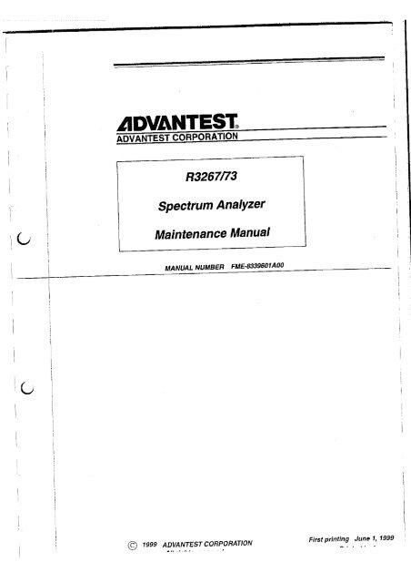 Ultimate advantest operation repair service manual 500 pdf manuals.