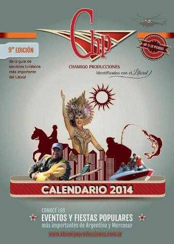 Calendario de Eventos Guia de Servicios Chamigo Producciones 2014