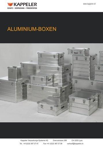 ALUMINIUM-BOXEN - Kappeler Verpackungs-Systeme AG