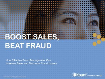 BOOST SALES, BEAT FRAUD - Magento