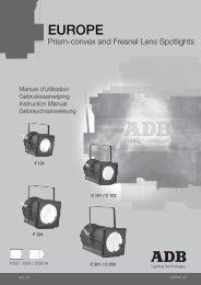 EUROPE - ADB Lighting Technologies