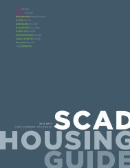 Current Student Housing Guide - SCAD