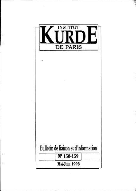 Rl1l1etinde Liaison Et D'information - Institut Kurde De Paris