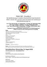 PSNV/ NFS - Grundkurs - Notfallseelsorge in Bayern