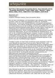 Ralf Thies: Ethnograph des dunklen Berlin. Hans ... - Sehepunkte