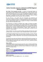 Carlos Varandas assume a diretoria da APAS Regional Baixada ...