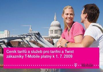 Ceník služeb T-Mobile - 2009 červenecCeník tarifů a služeb pro ...