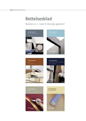 Rettelsesblad 1, af juli 2007 - Dansk Byggeri