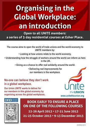 Organising in the Global Workplace: an introduction - Unite the Union
