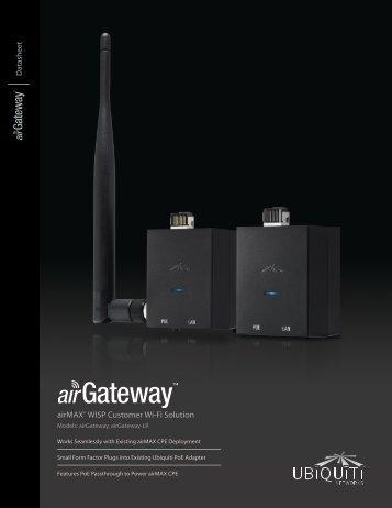 airGateway Datasheet - Ubiquiti Networks