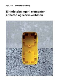 El-indstøbninger i elementer af beton og letklinkerbeton