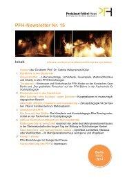 Newsletter Nr. 15 01/2014 - Das Pestalozzi-Fröbel-Haus