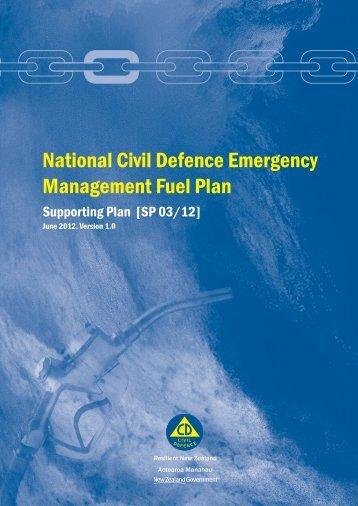 National Civil Defence Emergency Management Fuel Plan