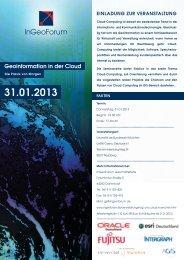 Einladung - GI und Cloud_130131-v3 - BearingPoint ToolBox