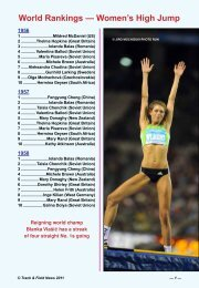 World Rankings — Women's High Jump - Track & Field News