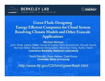 Green Flash: Designing Energy Efficient Computers for Cloud ...