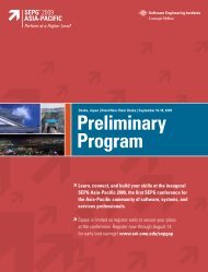 Preliminary Program Brochure - Software Engineering Institute ...