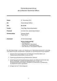 Protokoll der Gemeindeversammlung vom 27. November 2012