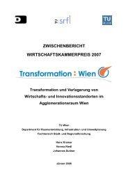 Zwischenbericht - Fachbereich Stadt- und Regionalforschung